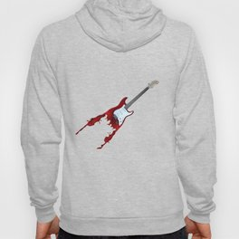 Electric guitar red music rock n roll sound beat band gift idea Hoody