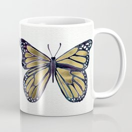 Gold Butterfly Coffee Mug