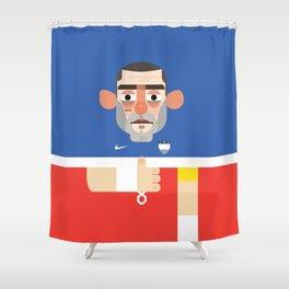 Clint Dempsey - USA Illustration Shower Curtain