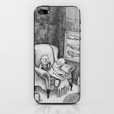 Whale Reader iPhone & iPod Skin