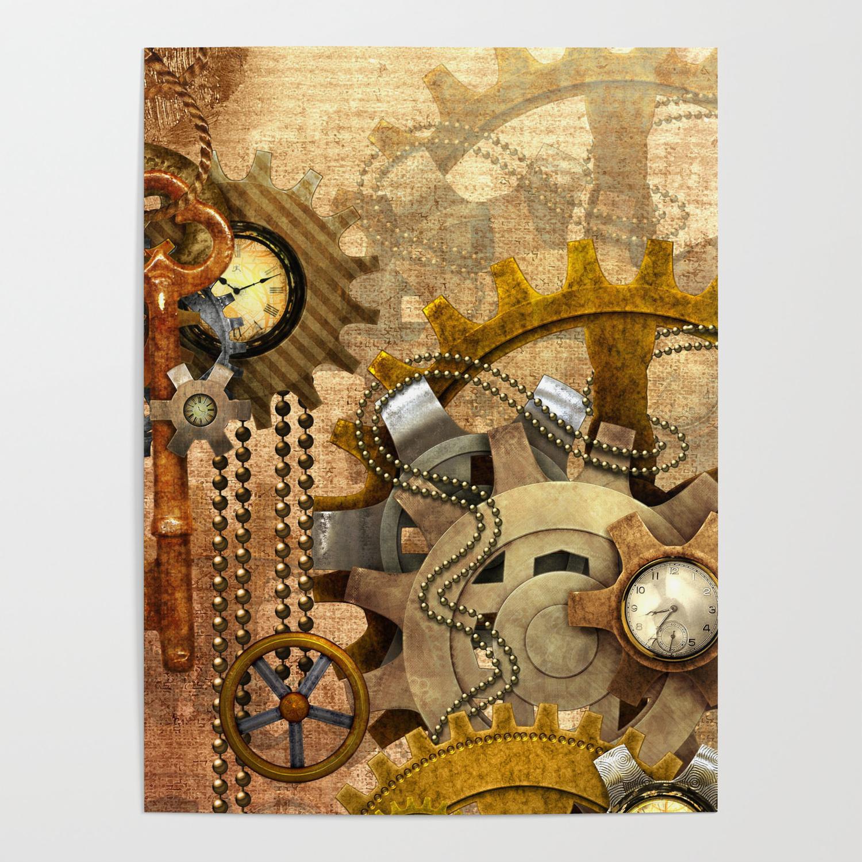 Steampunk Bar Fantasy Art Wall Print Poster De