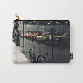 Colorful Cars Reflecting On Black Carrier Vehicle Carry-All Pouch