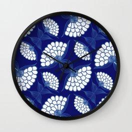 Royal Floral Motif Wall Clock