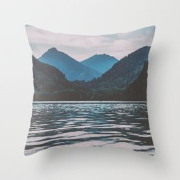 Bannwaldsee, Schwangau  lake in Bavaria Germany Throw Pillow