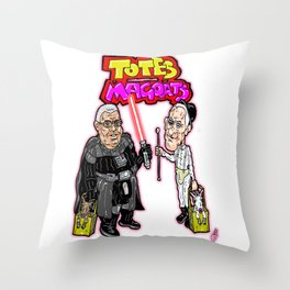 TOTES MAGOATS!  James Earl Jones and Malcolm McDowell, stars of Sprint Ads Throw Pillow