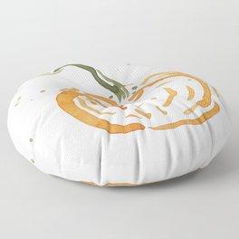 Abstracted Pumpkin Floor Pillow