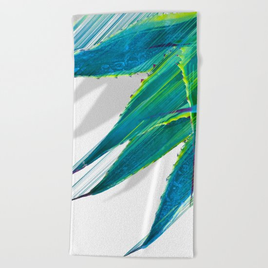 The soaring flight of the agave Beach Towel