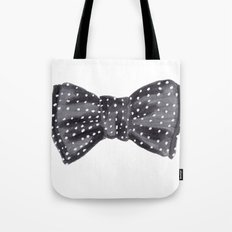 Dotted Bow Tote Bag