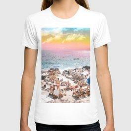 Beach Day, Travel Photography Digital Wall Decor, Tropical Beach Island Collage T-shirt