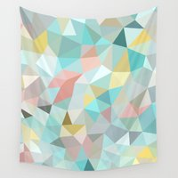 pastel Wall Tapestries featuring Pastel Tris by Beth Thompson