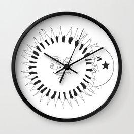 Celestial buddies: They're like night & day Wall Clock