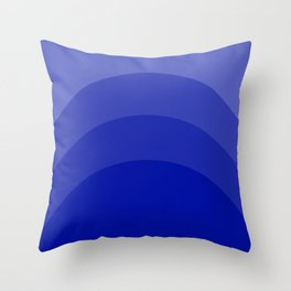 Four Shades of Blue Curved Throw Pillow