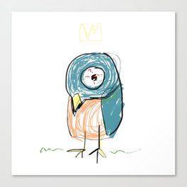 Stressed out Little King Bird  Canvas Print
