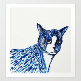 Boots in Blue Art Print