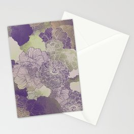 Aubergine Floral Hues Stationery Cards