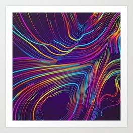 Streaks of Light Art Print