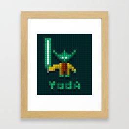 Yoda by Qixel Framed Art Print
