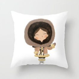 Cute eskimo Throw Pillow