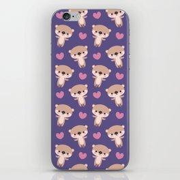 Kawaii otters iPhone Skin