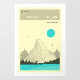 GLACIER NATIONAL PARK POSTER Art Print