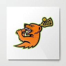 Mongoose Lacrosse Mascot Metal Print