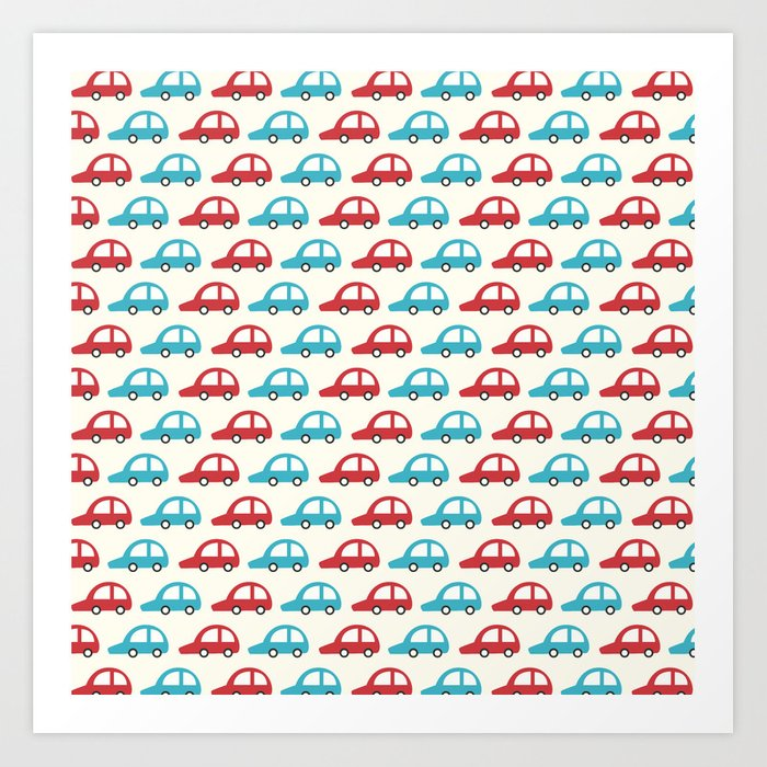Beep Beep! (Patterns Please) Art Print