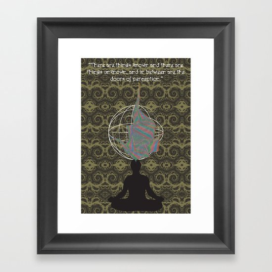 The Doors of Perception Framed Art Print