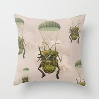 military Throw Pillows featuring Military by Tanya_tk