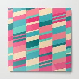 Bubblegum Strips Metal Print