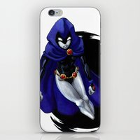 teen titans iPhone & iPod Skins featuring Teen Titans: Raven by JaDis