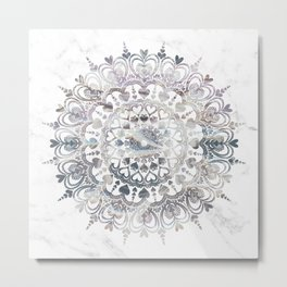 Dreamy Love Mandala Metal Print