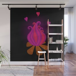 Valentine campfire Wall Mural