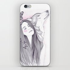 Wolf To The Moon iPhone & iPod Skin