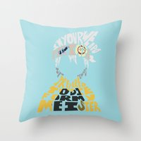 soul eater Throw Pillows featuring soul eater evans by Rebecca McGoran