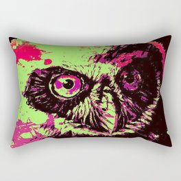 Rainbow Spectacled Owl Rectangular Pillow