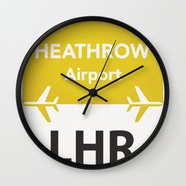 LHR yellow one Wall Clock