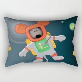Space Mouse floating in space Rectangular Pillow