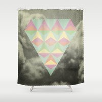 diamond Shower Curtains featuring Diamond by Metron