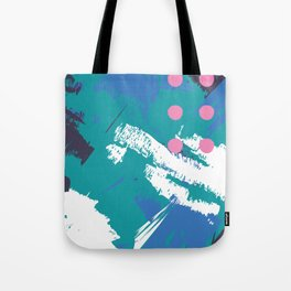 Sea Spray Abstract Geometric Pattern Tote Bag