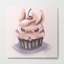 Bunny Cupcake Metal Print