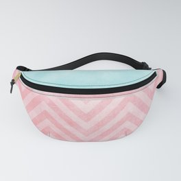 pink and turquoise chevron Fanny Pack