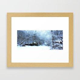 snowy morn   Framed Art Print