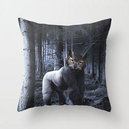 Gorillowl Throw Pillow