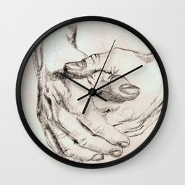 Study Hands Wall Clock