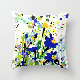 Deep In The Meadow 2 by Kathy Morton Stanion Throw Pillow