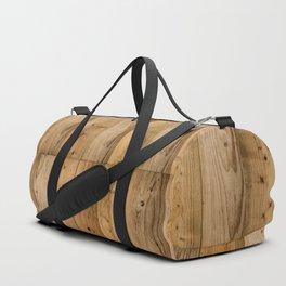 Wood Planks Dark Duffle Bag
