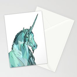 Unicorn prism Stationery Cards