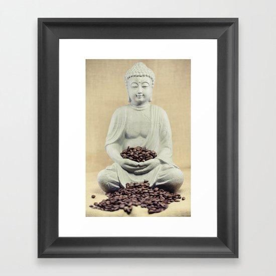 Coffee beans Buddha 3 Framed Art Print