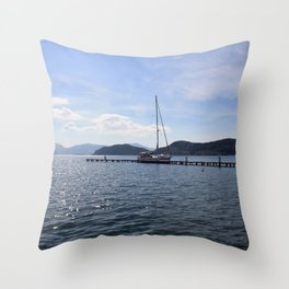 Exploring The Coast Less Travelled Throw Pillow