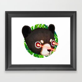 Black Bear Cub Laser Framed Art Print